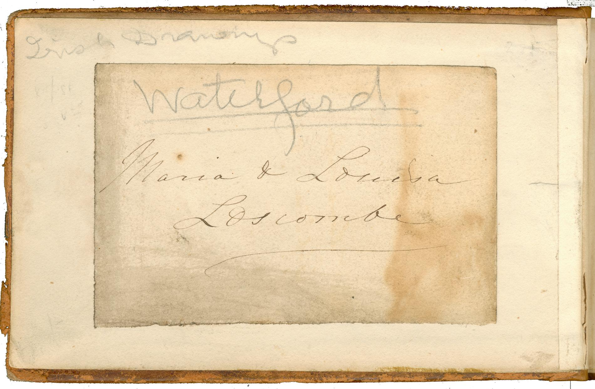 Inside of front cover (Manuscript Note)