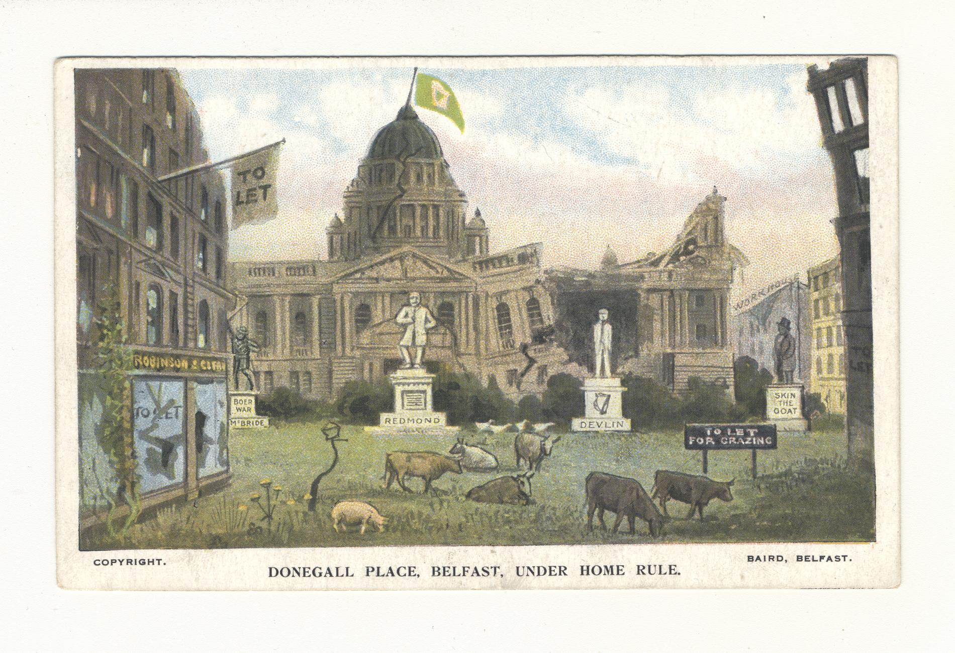 Donegall Place Belfast Under Home Rule (Postcard)