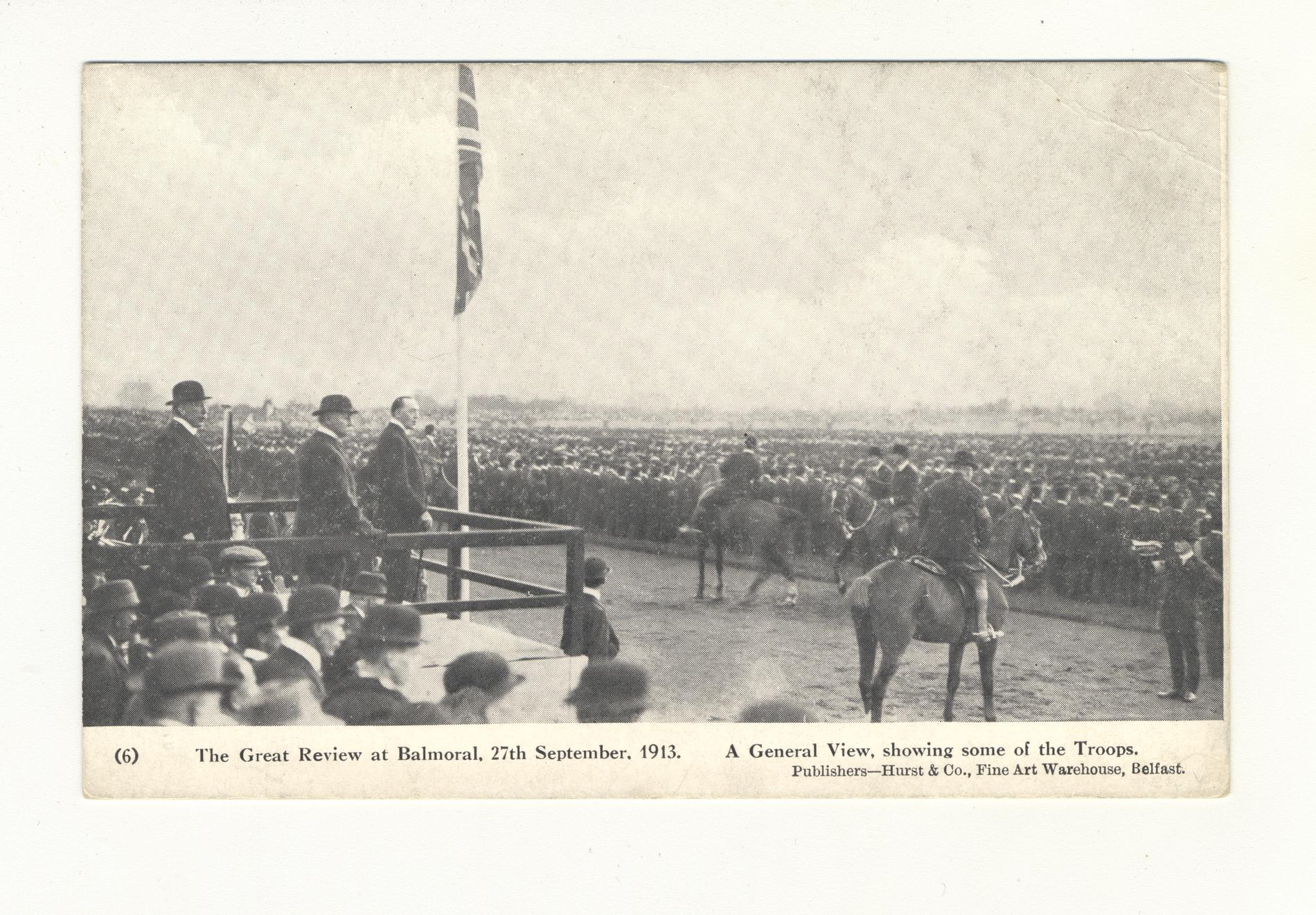 The Great Review at Balmoral, 27th Sept. 1913 (Postcard)
