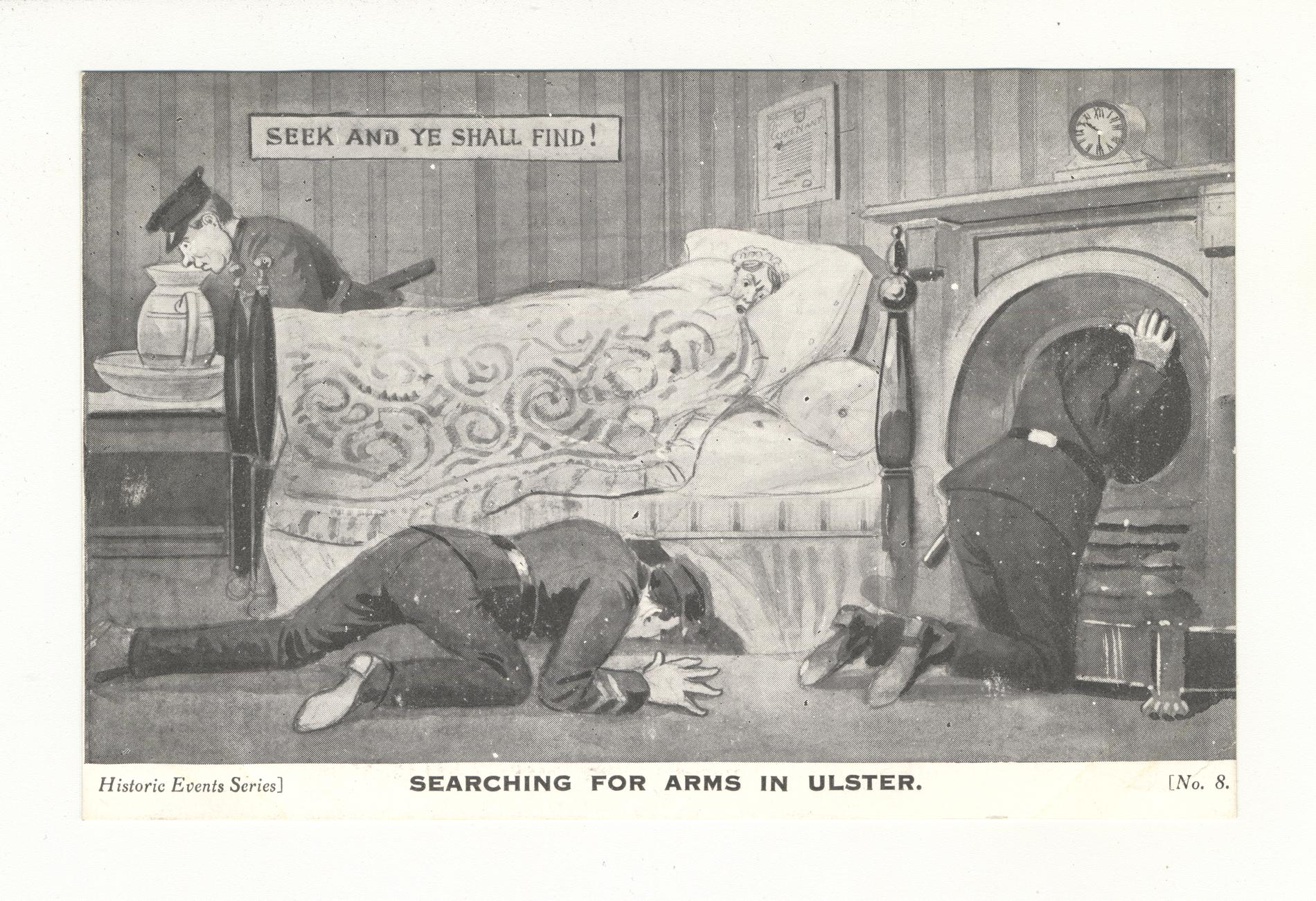 Searching for Arms in Ulster (Postcard)