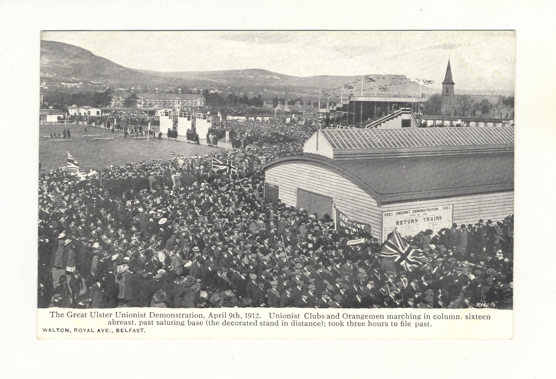 The Great Ulster Unionist Demonstration 1912 (Postcard)