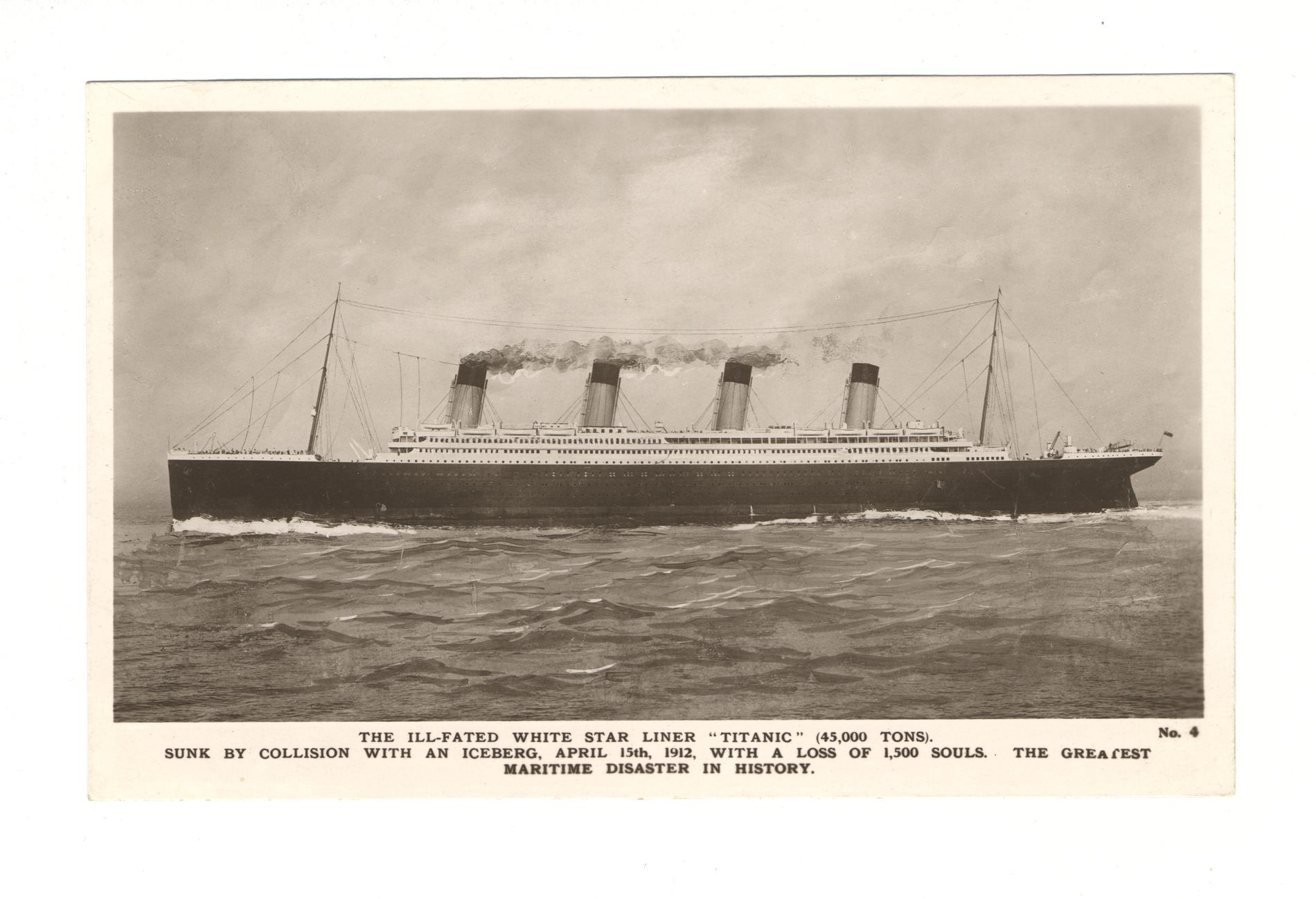 """The Ill-Fated White Star Liner """"Titanic"""" (Postcard)"""