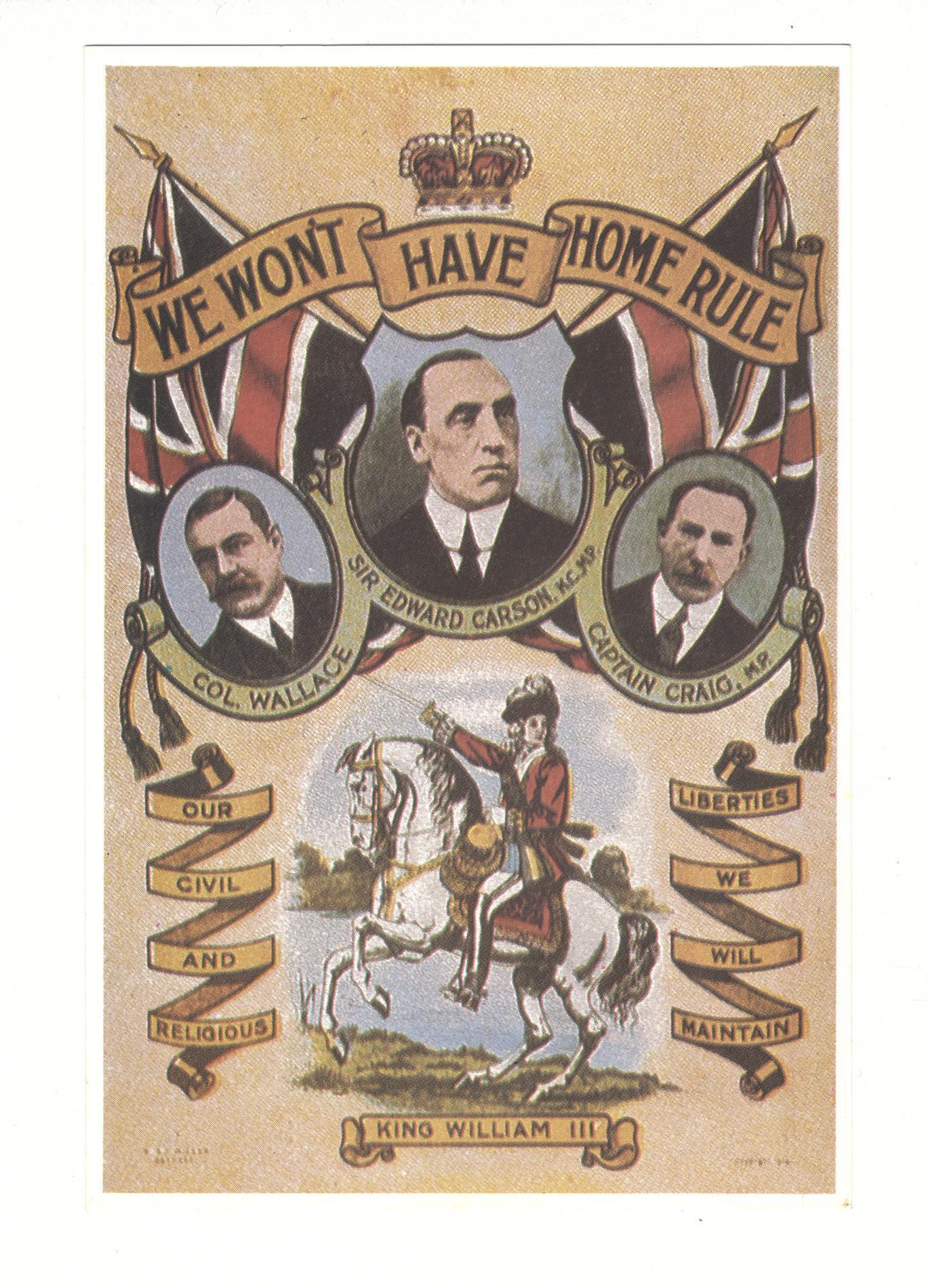 We Won't Have Home Rule (POSTCARD)