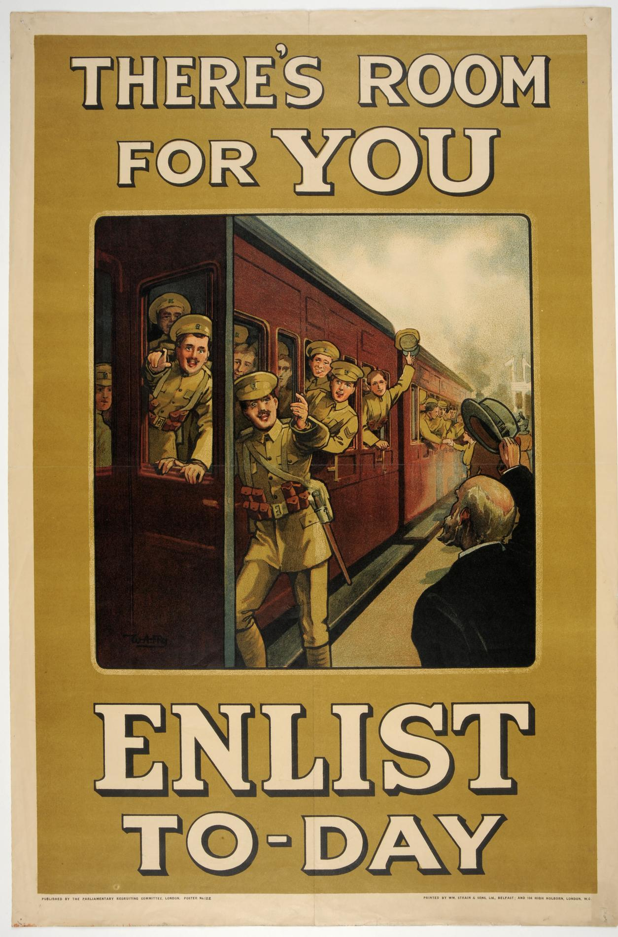 Theres room for you. Enlist to-day (Poster)