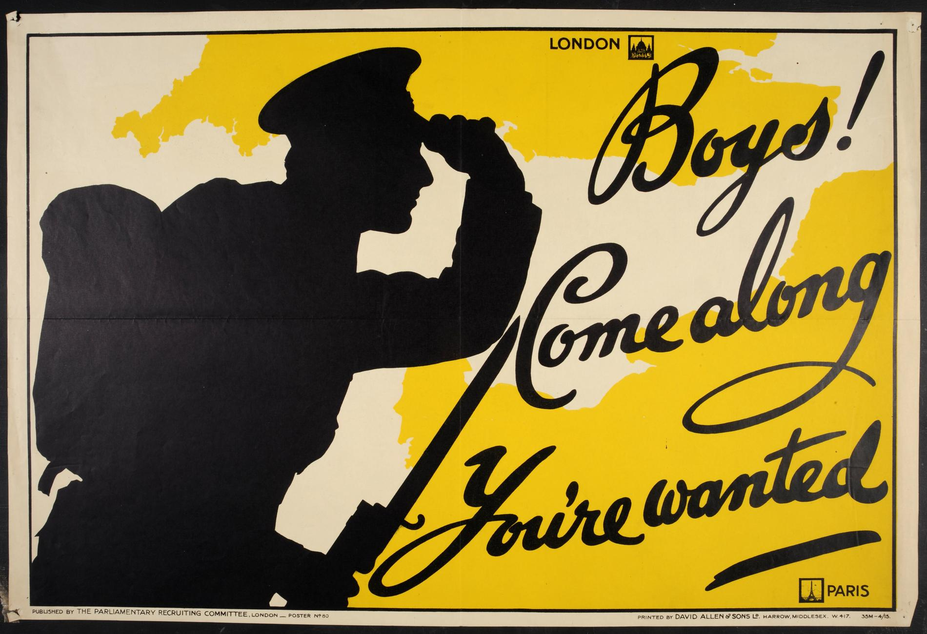 Boys! Come Along You're Wanted (Poster)