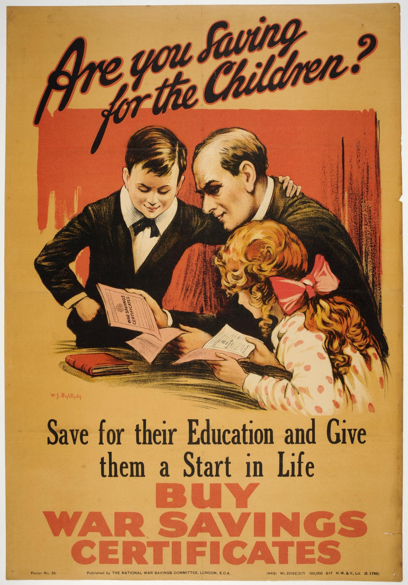 'Are you saving for the children?... Buy War Savings Certificates' (Poster)