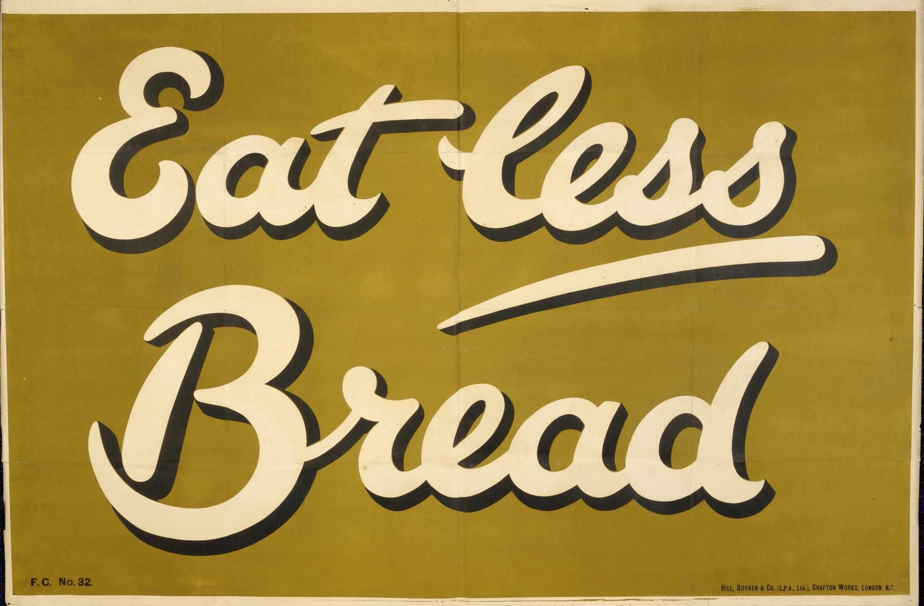 Eat Less Bread (Poster)
