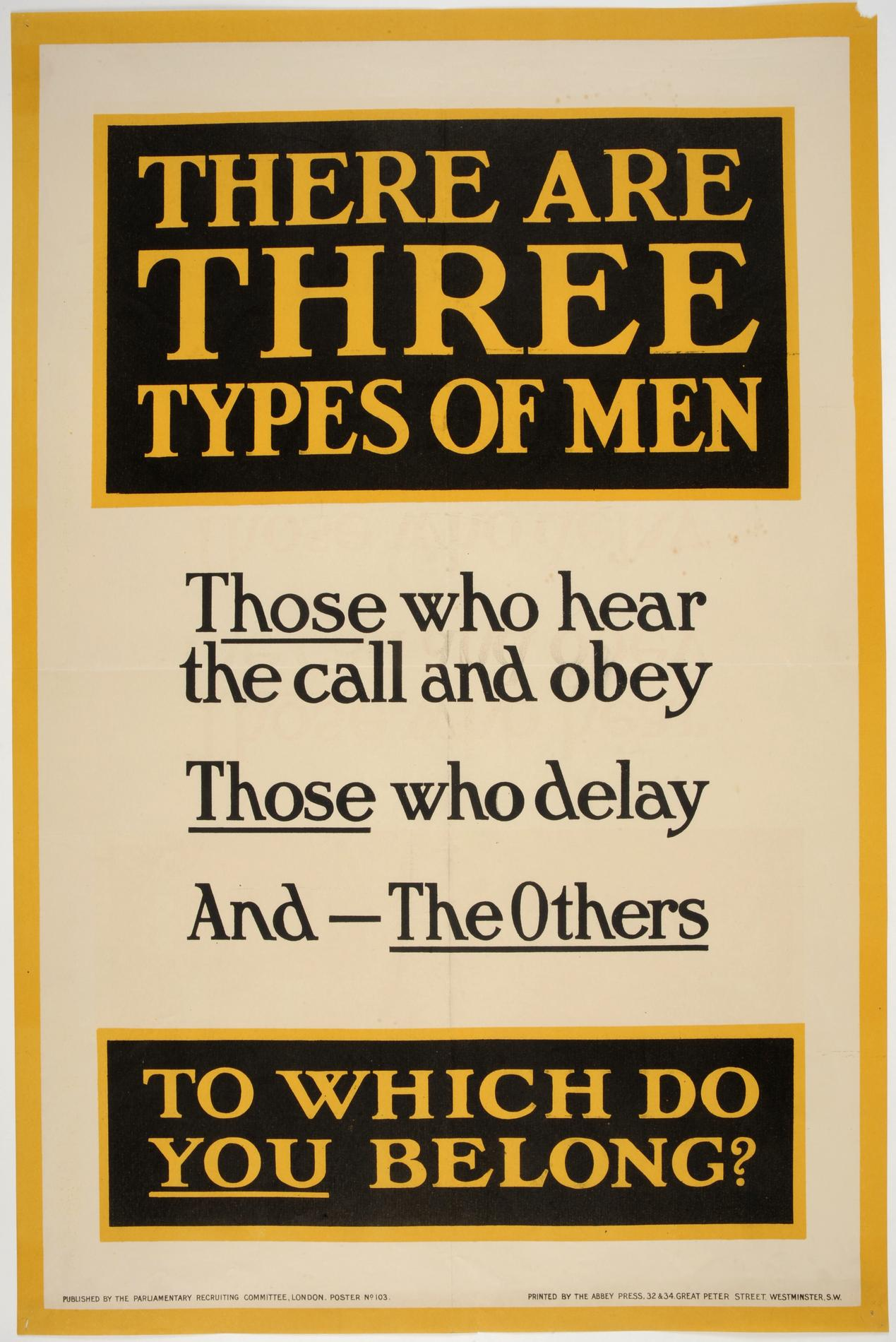 There are three types of men (Poster)