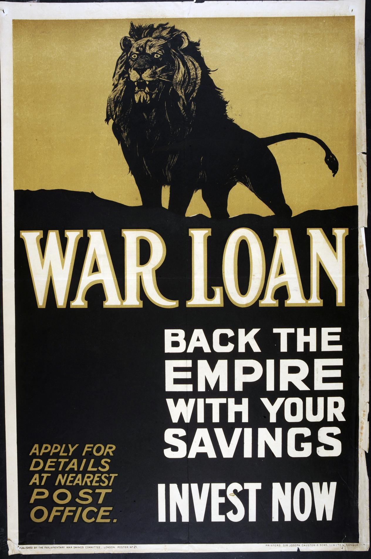 War Loan. Back the empire with your savings. Invest now (Poster)