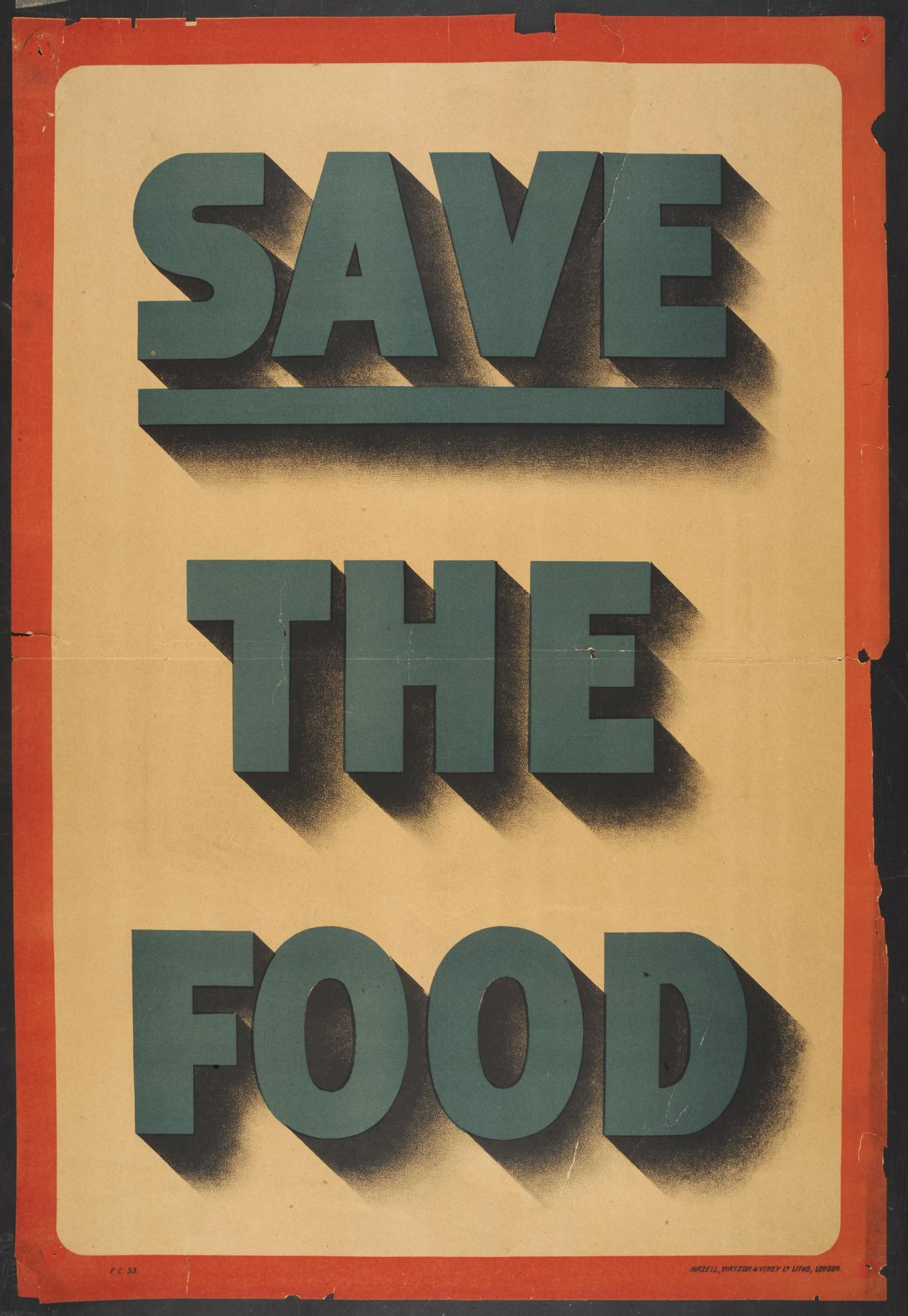 Save the Food (Poster)