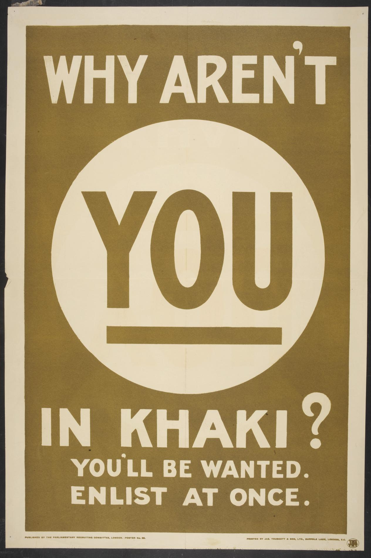 Why aren't you in khaki? (Poster)