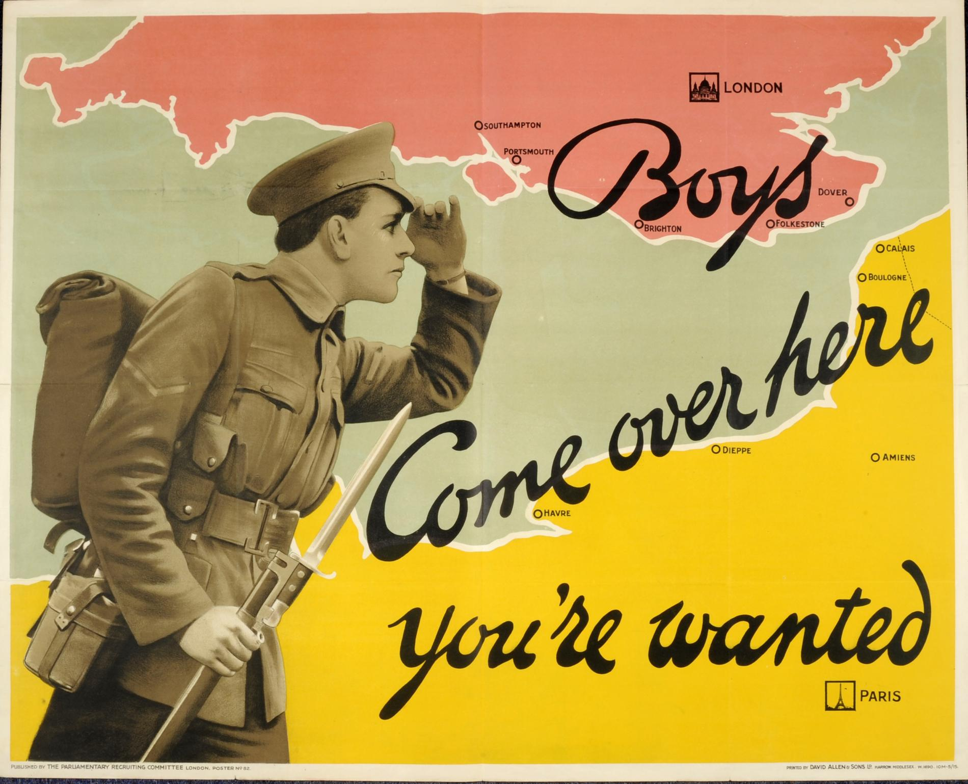 Boys Come Over Here, You're Wanted (Poster)