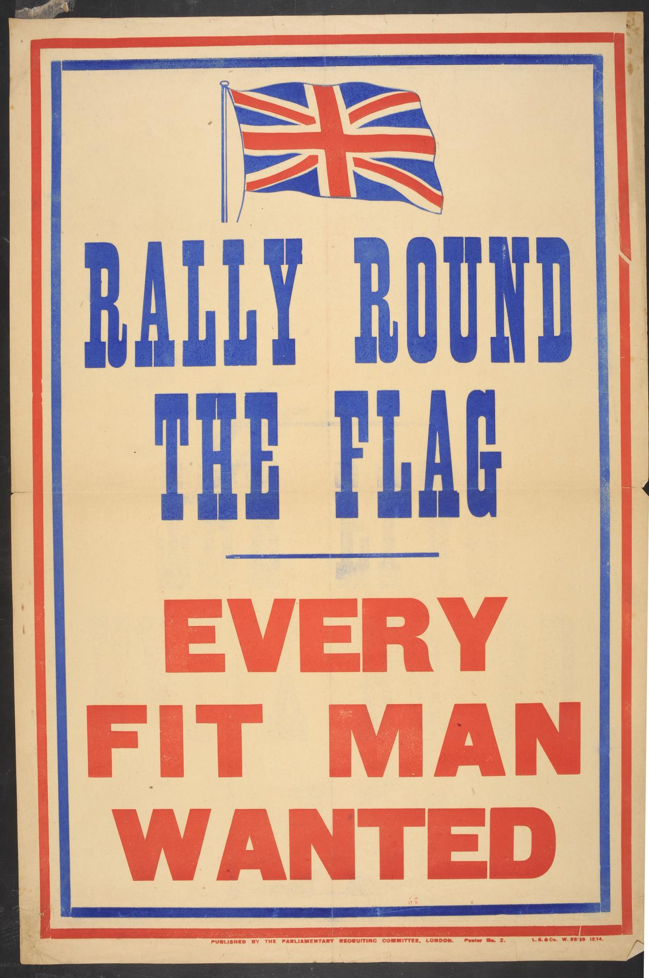Rally Round the Flag. Every Fit Man Wanted (Poster)