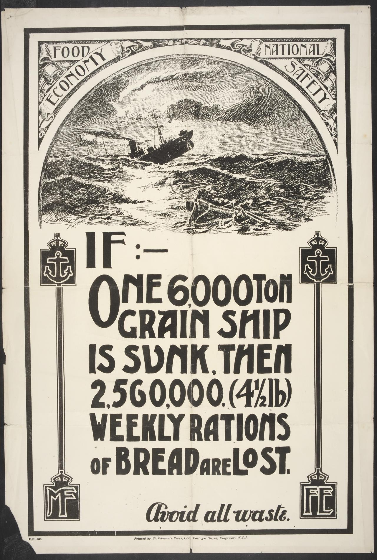 If one 6000 ton grain ship is sunk (Poster)
