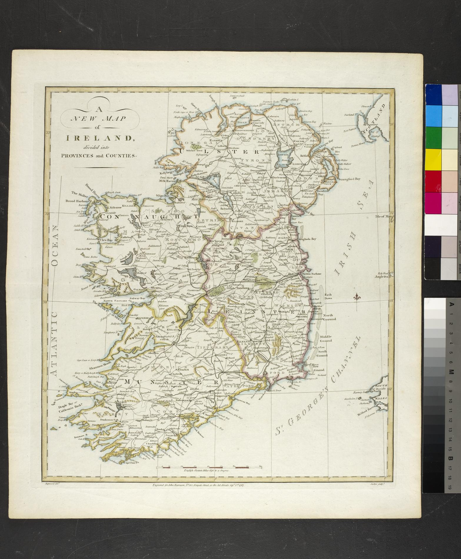 A / NEW MAP / OF / IRELAND. / DIVIDED INTO / PROVINCES AND COUNTIES (Map)