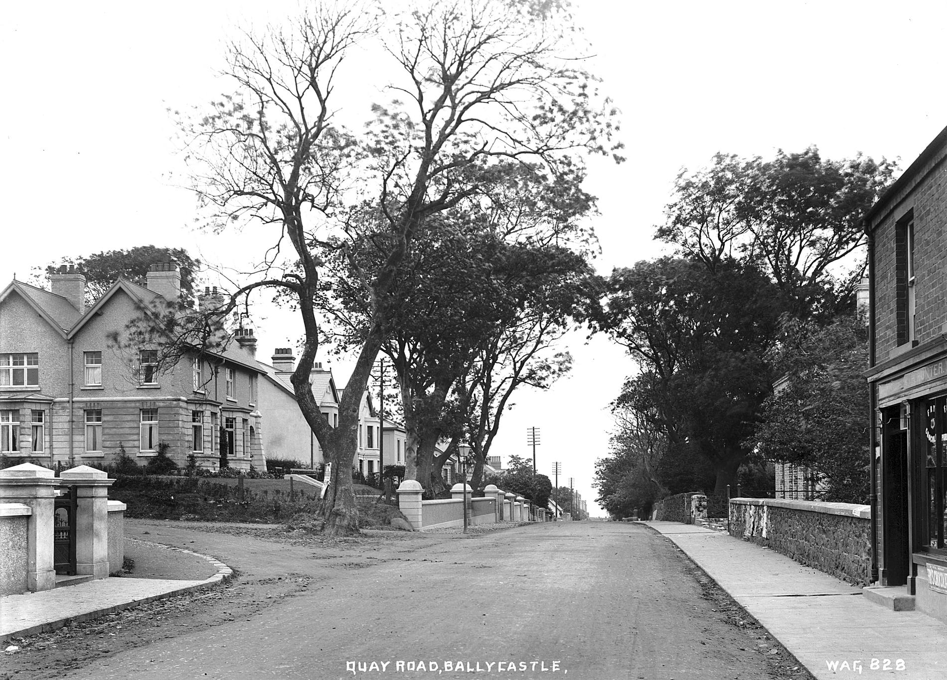 QUAY ROAD, BALLYCASTLE (Photograph; glass plate negative)