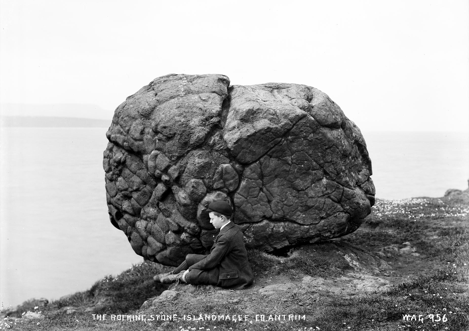 THE ROCKING STONE, ISLANDMAGEE, CO. ANTRIM (Photograph; glass plate negative)