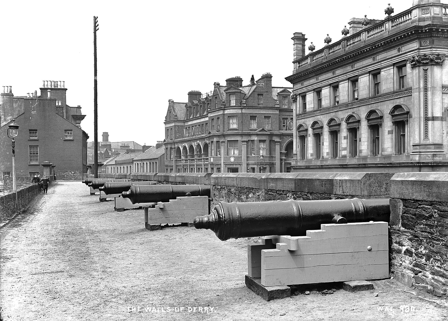 THE WALLS OF DERRY (Photograph; glass plate negative)