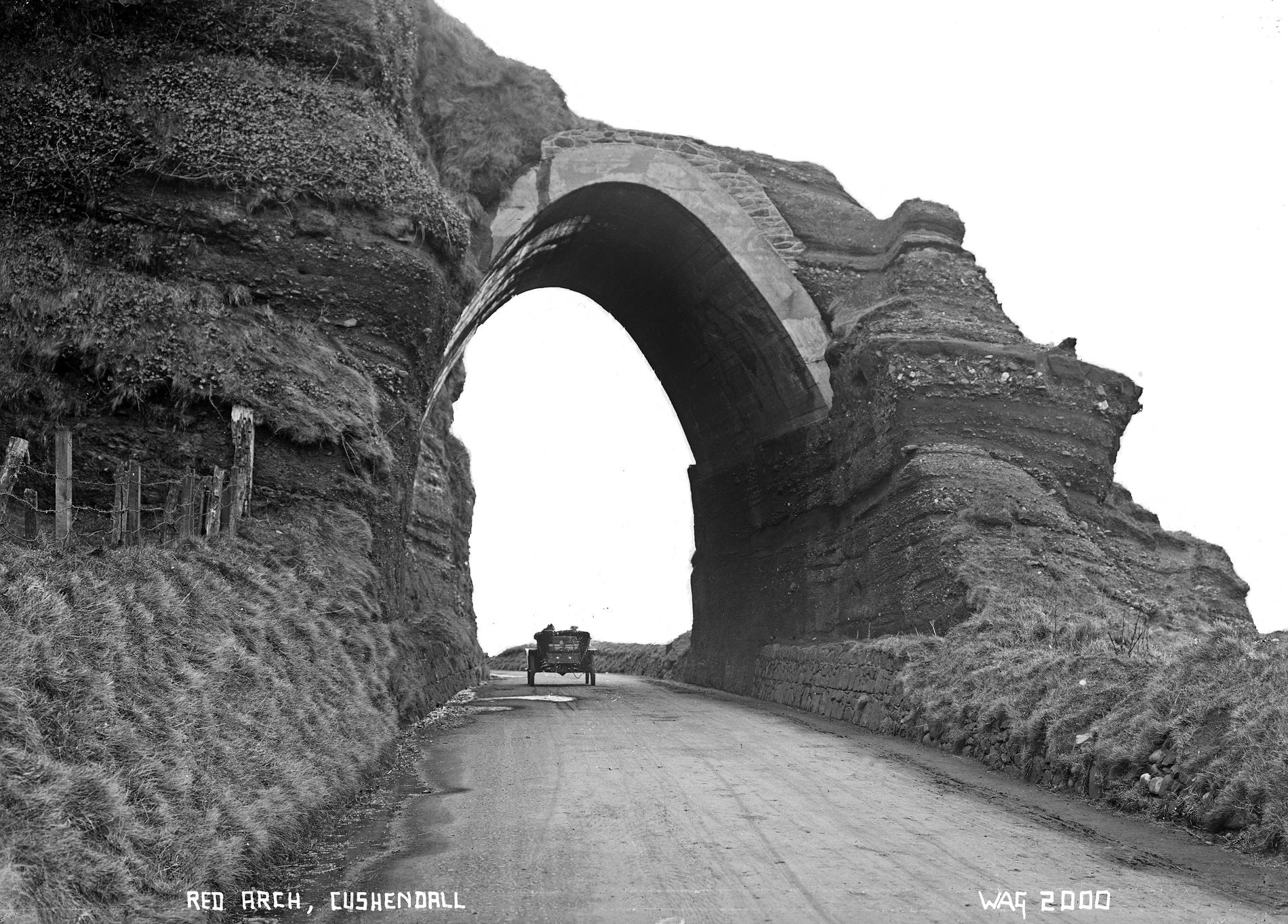 RED ARCH, CUSHENDALL (Photograph; glass plate negative)