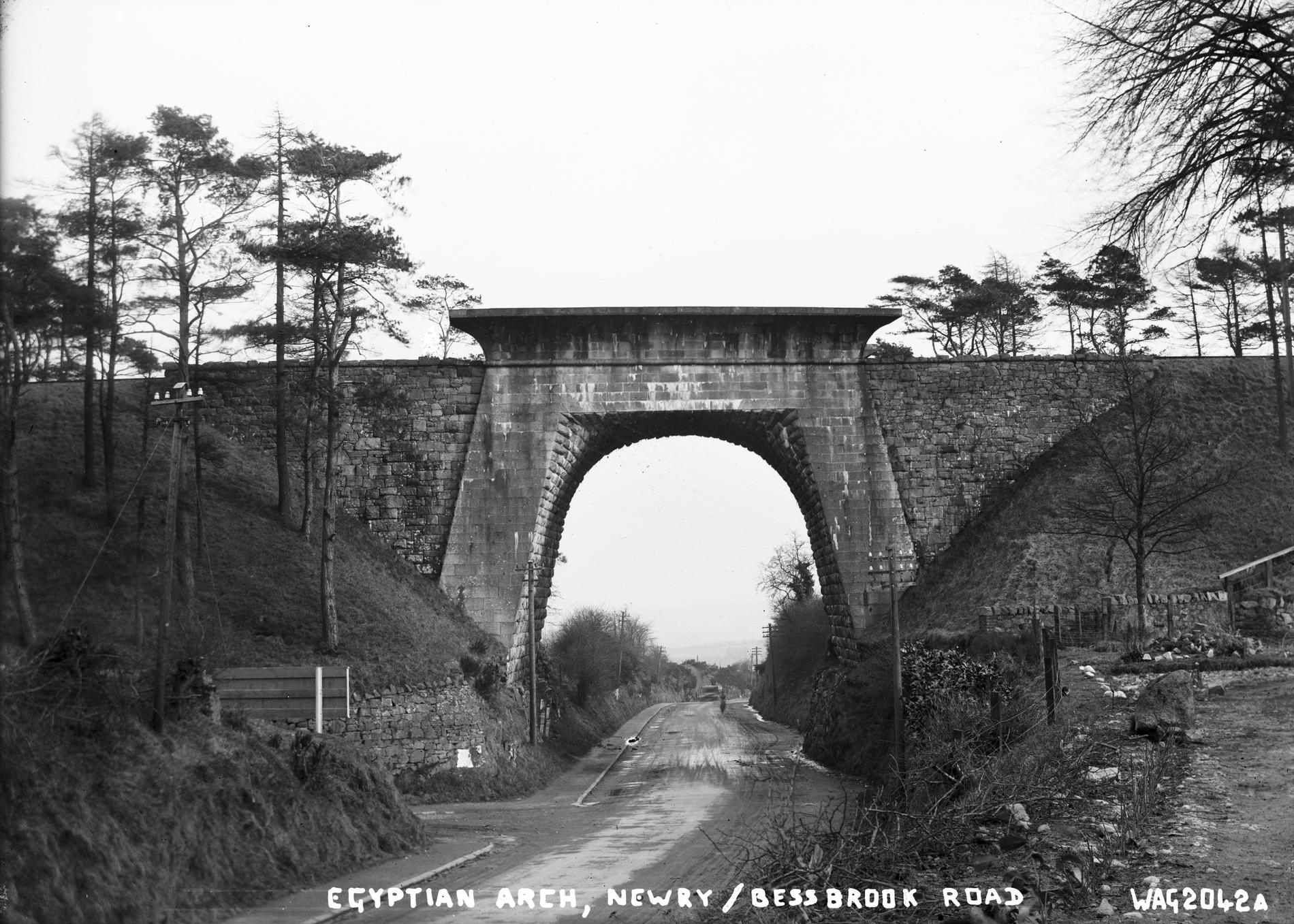 EGYPTIAN ARCH, NEWRY/BESSBROOK ROAD (Photograph; glass plate negative)